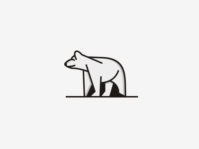 Bear graphic design creative simple minimal minimalist branding graphic design animal conept bear logo bear
