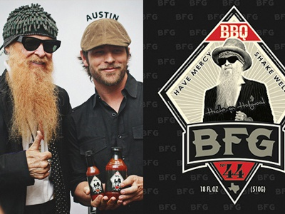 BBQ for ZZ TOP packaging design zz top