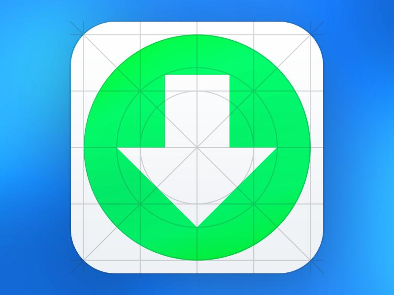 Download iOS7 Grid system Icon Template ijeunes icon apple iphone ipod ipad ios ios7 template ai flat transparent green white blue black