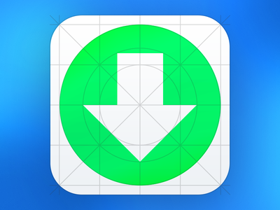 Download iOS7 Grid system Icon Template ijeunes icon apple iphone ipod ipad ios ios7 template ai flat transparent green white blue black