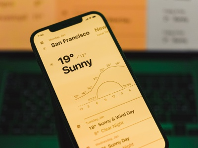 Weather app that is simple and intelligible. navigation grid bold lines forecast weather app weather mobile ui mobile design progress branding ios interface ux ui app