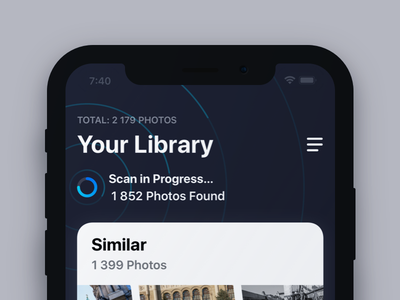 Gemini Photos for iOS illustration library progress interface ux ui app gemini