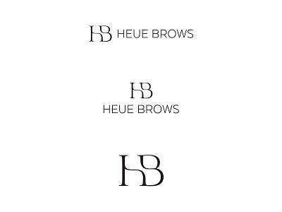 HB Monogram Logo grid illustration monogram logo flat logo design type branding typography minimal logotype logo monogram
