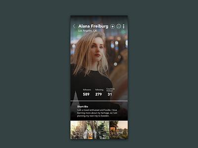 Daily UI 6 - Create User Profile dailyui006 daily 100 challenge