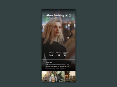 Daily UI 6 - Create User Profile