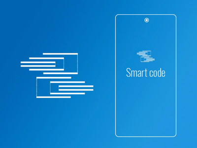 Smart code - app logo code coding programming logotype logo illustration icon design branding app