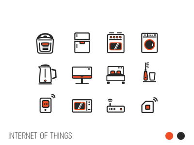 Internet of things - app icons icon design mobile wi-fi smart home internet of things collection icon set icons iconset icon app