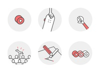 Some icons for my personal web design studio.