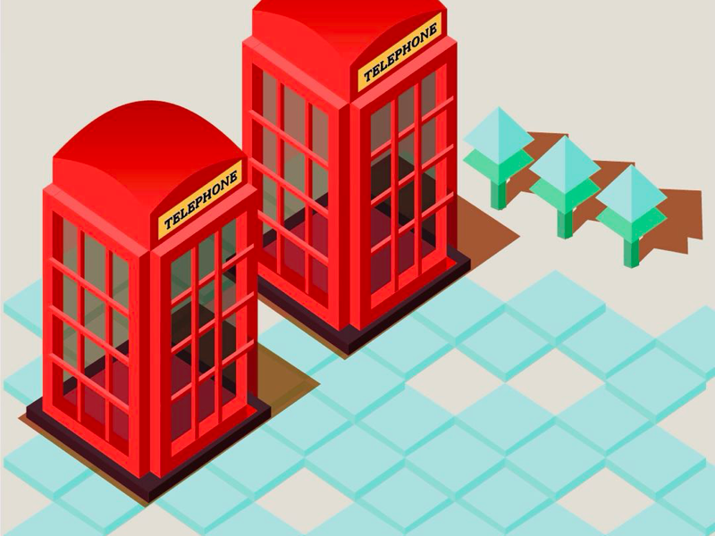 Old Fashioned Telephone Booth by Jingjing on Dribbble