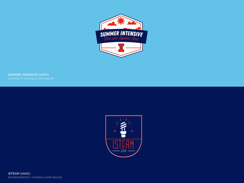 Illinois Summer Camp Badges by Zac Holman   Dribbble   Dribbble