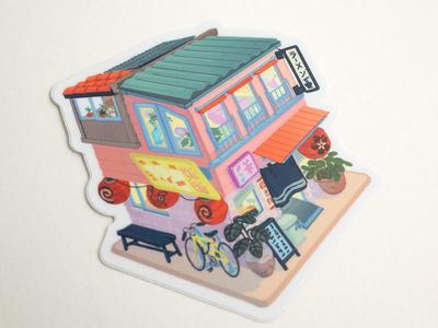 Ramen shop sticker