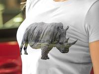 Rhino double exposure