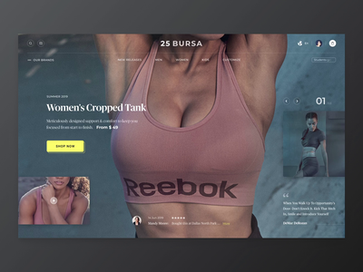Sports clothing and fashion online store ux typography webdesign transition ui store shopify sport shop motion interactive minimal luxury ecommerce clean brand animation
