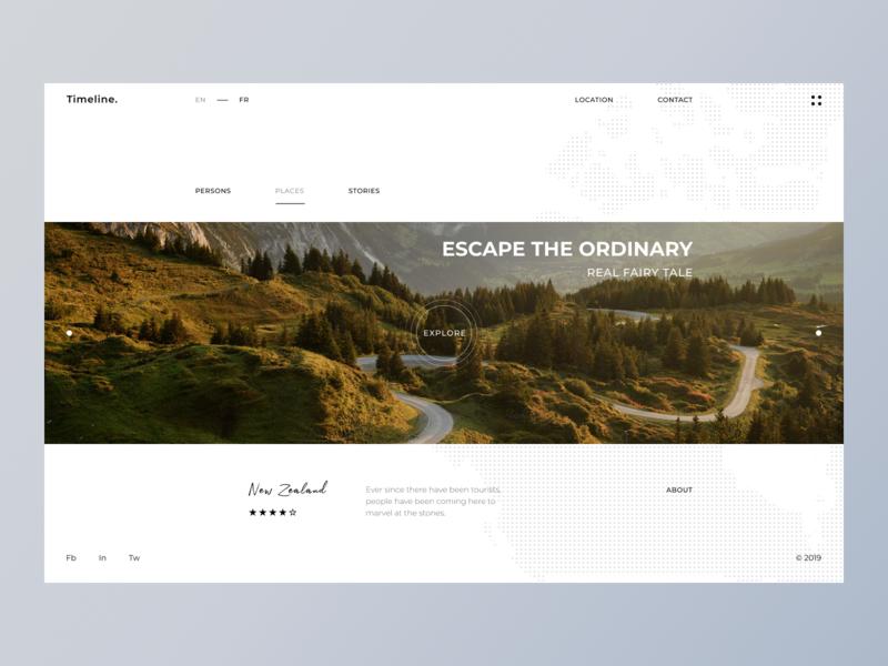 Travel website concept minimal creative web design ux ui clean travel banner