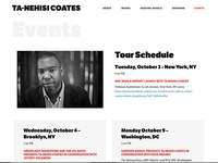 Ta-Nehisi Coates Events