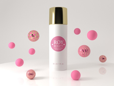 ROY Beauty Serum package design product render branding cinema 4d 3d design 3dart graphic art 3d design