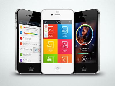 Filemanager App Template mobile app kit template pixelkit
