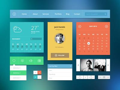 Modern Touch UI kit gui ui kit kit ui metro modern flat