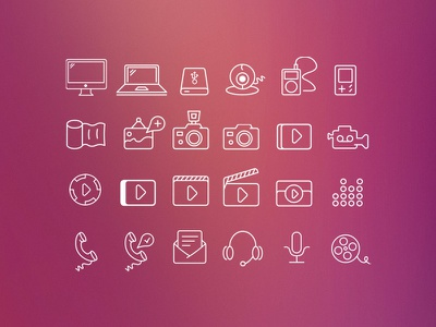 Swanky Outlines Icon Set icons outlines gui kit icon set vector