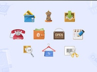 More shopping icons