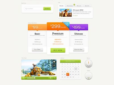Chubby Stacks ui kit gui pixelkit fresh buttons calendar pricing knob