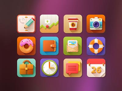 5 O'clock Shades - Icon set icons icon set app app icons flat detailed pixelkit