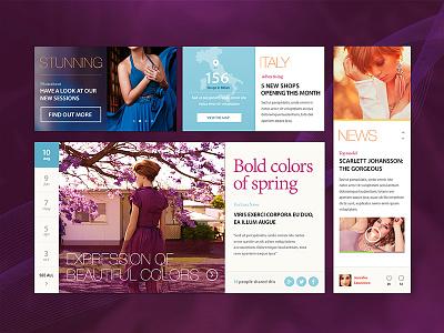 Fashion Ave. - eCommerce GUI Kit ui kit gui pixelkit ecommerce buttons calendar pricing knob