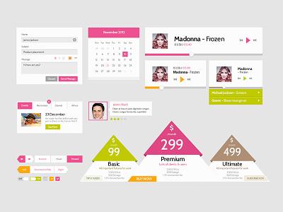 Skinny Frames UI kit ui kit gui icons web elements pricing