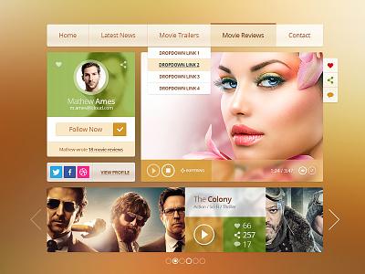 Movies Ui Kit ui kit graphics icons movies
