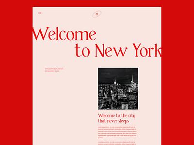 NY Editorial editorial design editorial new york landing page design visual design