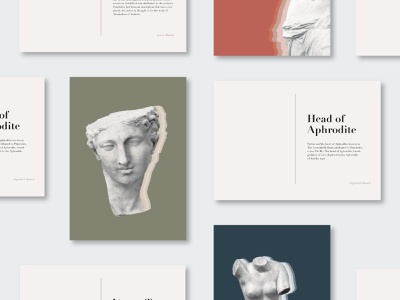 Art Historical Postcards art history postcard typography design