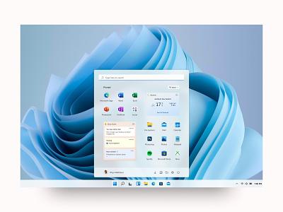 Windows 11 Start Menu Widgets figma windows 11 mica fluent design ui uidesign acrylic microsoft windows