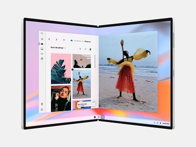 File Explorer for Microsoft Light OS file managing file explorer windows ui ux design windows 10 uidesign microsoft light fluent design acrylic