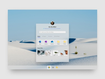Start Menu concept for Microsoft's Lite OS