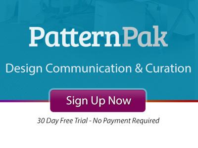 PatternPak Landing landing page sign up button