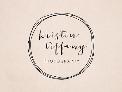 Kristin Tiffany Photography Logo photography doodle script logo