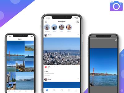 Instagram Clone in React Native simple dating app react native templates mobile app development react native app templates mobile mobile app design mobile app instagram banner instagram template instagram stories instagram post instagram