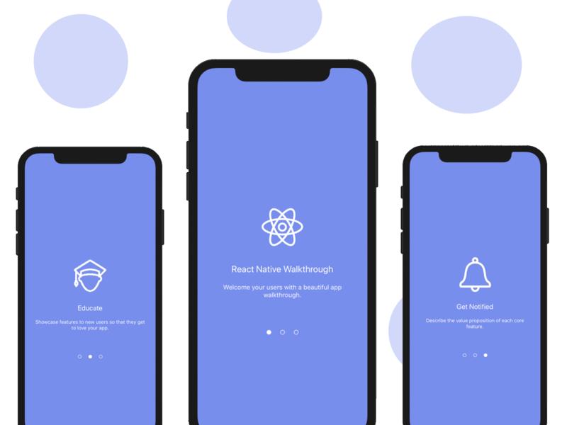 React Native Walkthrough starter templates react native mobile app development mobile mobile app mobile app design