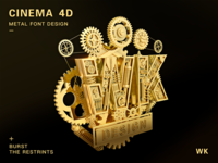 Design of 3D Metal Font