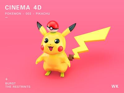 Pokémon Detective Pikachu c4d 3d ios logo color icon ui