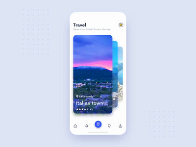 Travel ae ux dynamic effect app ui design ios color icon ui