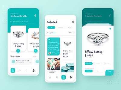 Tiffany ae c4d 3d design ux app ui design app ios color icon ui