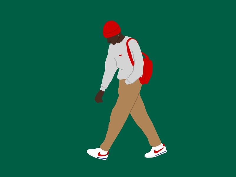 Let's do great things together cortez sneakers nike vector murals line art illustrator illustration graphic  design graphic artist graphic art fashion art drawing design color artist art animation adobeillustator