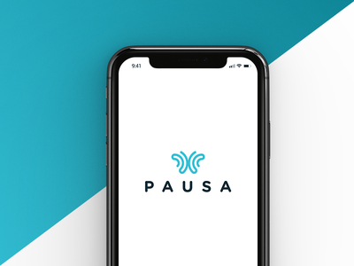 Pausa App Branding photo brandbook negative space logo iphone application icon ios logo design color palette designer brand identity branding appstore product pausa