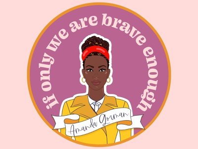 Amanda Gorman be the light bravery brave illustration portrait illustration portrait sticker design sticker poetry poet amanda gorman