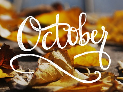 Hello October 1! autumn ligatures typography october lettering handlettering