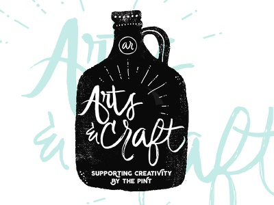 Arts and Craft: Supporting Creativity by the Pint arkansas music festival beer and arts festival arts festival festival beer festival hand lettered craft beer ligatures typography logo handlettering