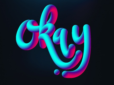 Okay blend 3d digital lettering hand lettering just for fun