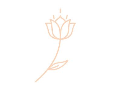 monoline flower mono-weight floral flower monoline