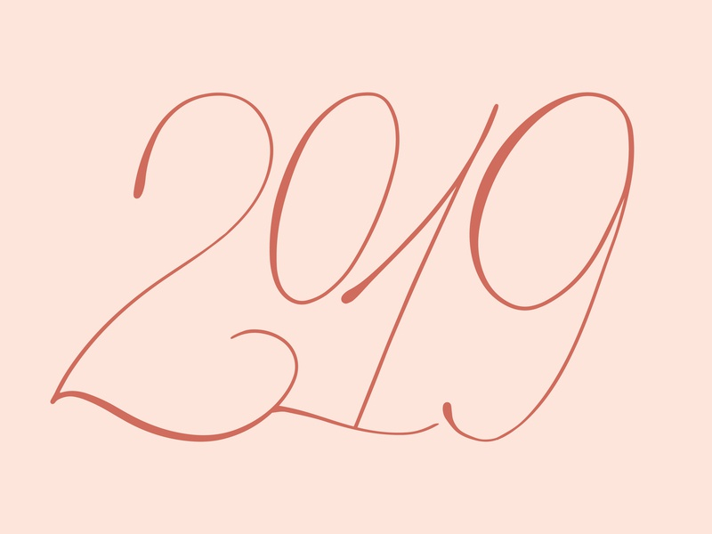 2019 lettering type typography numbers new year 2019 2019 new year